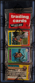 Baseball Cards:Unopened Packs/Display Boxes, 1975 Topps Baseball Unopened Rack Pack - BBCE Authenticate...