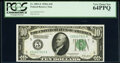 Fr. 2001-E $10 1928A Federal Reserve Note. PCGS Very Choice New 64PPQ