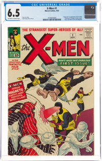X-Men #1 (Marvel, 1963) CGC FN+ 6.5 Off-white to white pages