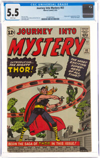 Journey Into Mystery #83 (Marvel, 1962) CGC FN- 5.5 White pages
