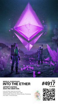 Beeple (b. 1981) Into The Ether, From The Everydays - The 2020 Collection, 2020 Non-fungible token, NFT (MP4)  D