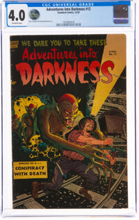 Adventures Into Darkness #12 (Standard, 1953) CGC VG 4.0 Off-white pages