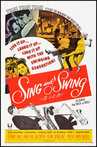 """Sing and Swing & Other Lot (Universal, 1963). Folded, Very Fine. One Sheets (2) (27"""" X 41""""). Musical..."""
