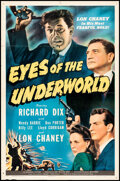 Movie Posters:Crime, Eyes of the Underworld (Universal, 1943). Folded, Fine/Ver...