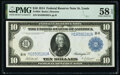 Fr. 934 $10 1914 Federal Reserve Note PMG Choice About Unc 58 EPQ