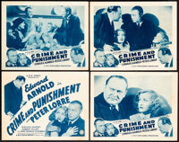 """Crime and Punishment (A.F.E Corp, R-1940s). Fine/Very Fine. Title Lobby Card & Lobby Cards (3) (11"""" X 14"""")..."""