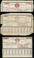 (Little Rock), AR- State of Arkansas $5 Sep. 1861. Cr. 61J2 Poor or Better (12); Strip of Three Coupons for one of the...