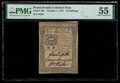 Colonial Notes:Pennsylvania, Pennsylvania October 1, 1773 10s PMG About Uncirculated 55...