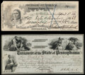 Chief Ouray Portrait Guthrie, OK- Ferdinand Ritterbusch Treasurer Logan Country/Bank of Indian Territory Check $26.93 Ap...