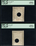 Colonial Notes:Connecticut, Connecticut July 1, 1780 2s 6d PCGS Choice New 63PPQ;. Connecticut July 1, 1780 5s PCGS Choice New 63PPQ.. ... (Total: 2 notes)