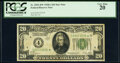 Fr. 2051-D* $20 1928A Federal Reserve Star Note. PCGS Very Fine 20