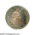 Proof Seated Quarters: , 1865 25C PR66 PCGS. The 1865 is a difficult date to ...