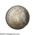 Proof Seated Quarters: , 1875 25C PR65 PCGS. Briggs 5-F. Characterized by a lump (...