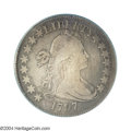 Early Half Dollars: , 1797 50C Fine 12 PCGS. O-101a, R.5. The obverse die is ...