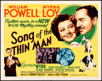 """Song of the Thin Man (MGM, 1947). Folded, Very Fine. Half Sheet (22"""" X 28""""). Mystery"""