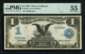 Large Size:Silver Certificates, Fr. 226 $1 1899 Silver Certificate PMG About Uncirculated 55.. ...