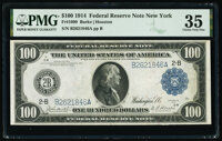 Fr. 1090 $100 1914 Federal Reserve Note PMG Choice Very Fine 35