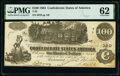 T39 $100 1862 PF-5 Cr. 290 PMG Uncirculated 62