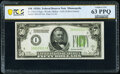 Fr. 2101-I $50 1928A Federal Reserve Note. PCGS Banknote Choice Unc 63 PPQ