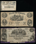 Connersville, IN- Savings Bank of Indiana $3 Aug. 23, 1854 New Harmony, IN- Exchange & Banking Office of J. E. Ricke...