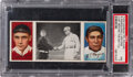 Baseball Cards:Singles (Pre-1930), 1912 T202 Hassan Triple Folder Just Before the Battle - Me...