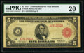 Fr. 832b $5 1914 Red Seal Federal Reserve Note PMG Very Fine 20