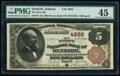 Dunkirk, IN - $5 1882 Brown Back Fr. 472 The First National Bank Ch. # 4888 PMG Choice Extremely Fine 45