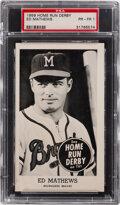 Baseball Cards:Singles (1950-1959), 1959 Home Run Derby Ed Mathews PSA Poor 1. From th...