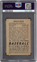 Baseball Cards:Singles (1950-1959), 1952 Bowman Willie Mays #218 PSA NM 7. The tremend...
