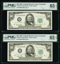 Fr. 2107-D $50 1950 Federal Reserve Notes. Two Consecutive Examples. PMG Gem Uncirculated 65 EPQ. ... (Total: 2 notes)