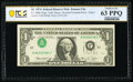 Inverted Third Printing Error Fr. 1908-J $1 1974 Federal Reserve Note. PCGS Banknote Choice Unc 63 PPQ