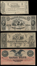 New Orleans, LA- Canal & Banking Co. $5 18__ Remainder Crisp Uncirculated; New Orleans, LA- Canal Bank $5; $10 18__...