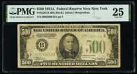 Fr. 2202-B $500 1934A Federal Reserve Note. PMG Very Fine 25