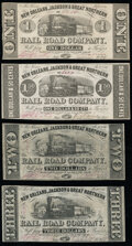 New Orleans, LA- New Orleans, Jackson & Great Northern Rail Road Company $1; $1.50; $2; $3 Nov. 16, 1861 Fine or Bet...