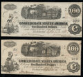 T40 $100 1862 PF-1 Cr. 300 Two Examples Very Fine; Very Fine-Extremely Fine. ... (Total: 2 notes)