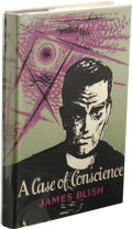 Books:First Editions, James Blish: A Case of Conscience. (London: Faber and FaberLimited, 1958), first edition, 208 pages, jacket design by P...