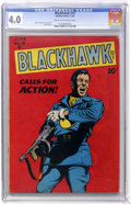 Golden Age (1938-1955):War, Blackhawk #19 (Quality, 1948) CGC VG 4.0 Cream to off-white pages....