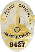 "Movie/TV Memorabilia:Props, Mel Gibson's Prop Badge From ""Lethal Weapon 3."" A prop LAPD badge used by Gibson in the 1992 sequel. In Excellent condition...."