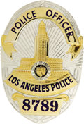 "Movie/TV Memorabilia:Props, Danny Glover's Prop Badge From ""Lethal Weapon 3."" A prop LAPD badgeused by Glover in the 1992 sequel. In Excellent conditio..."