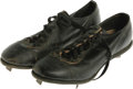 "Movie/TV Memorabilia:Costumes, Barry Pepper Cleats from ""61*."" A pair of baseball cleats worn byPepper in the 2001 sports drama 61*, about Mickey Mant..."