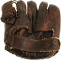 "Movie/TV Memorabilia:Costumes, Robert Redford's Baseball Glove From ""The Natural."" ""Boyhood dreams, a bat made from a tree struck by lightning and, most im..."