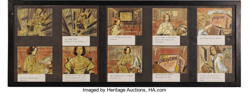 0767d2dd1 Brenda Vaccaro Famous TV Commercial Storyboards. A set of