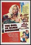 "Movie Posters:Crime, The Girl in Black Stockings (United Artists, 1957). One Sheet (27""X 41""). Crime. Starring Lex Barker, Anne Bancroft, Mamie ..."