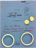 "Movie/TV Memorabilia:Memorabilia, Lucille Ball ""The Lucy Show"" Script and Costume Jewelry. A copy ofthe 45-page final draft of the sixth season episode ""Lucy..."