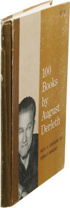 Books:First Editions, August Derleth: Signed First Edition of 100 Books by AugustDerleth: (Sauk City: Arkham House Publishers, 1962), first e...