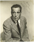 "Movie/TV Memorabilia:Autographs and Signed Items, Humphrey Bogart Signed Photo. One of the finest Bogart signed photos to ever surface, this 7.25"" x 9"" b&w studio publicity ..."