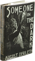 Books:Signed Editions, August Derleth: Inscribed First Edition of Someone In the Dark. (Sauk City: Arkham House, 1941), first edition, 335 page...