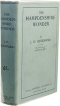 Books:First Editions, J. D. Beresford: The Hampdenshire Wonder. (London: Sidgwick& Jackson, Ltd., 1911), first edition, 295 pages, green clot...