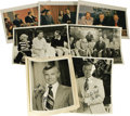 """Movie/TV Memorabilia:Autographs and Signed Items, Johnny Carson Signed Photos to his Secretary. Two b&w 8"""" x 10""""photos of the legendary Tonight Show host signed by him i..."""