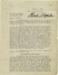 Movie/TV Memorabilia:Autographs and Signed Items, Charlie Chaplin Signed 1923 Contract. A four-page agreement dated January 8, 1923, between Charlie Chaplin and Associated Fi...